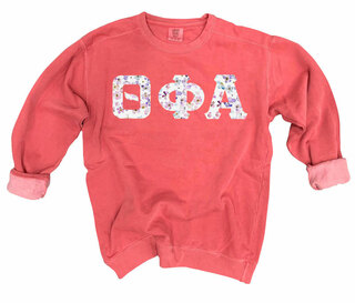 Theta Phi Alpha Comfort Colors Lettered Crewneck Sweatshirt