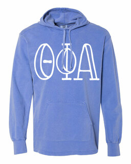 Theta Phi Alpha Comfort Colors - Terry Scuba Neck Greek Hooded Pullover