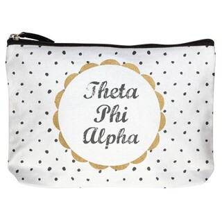Theta Phi Alpha Cotton Canvas Makeup Bags