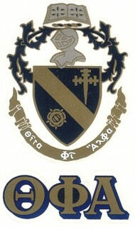Theta Phi Alpha Crest - Shield Decals