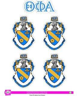 Theta Phi Alpha Crest Sticker Sheet