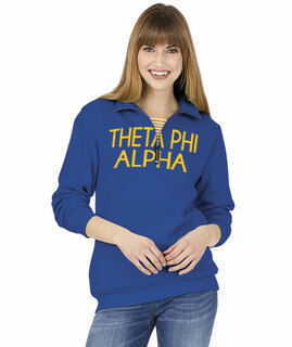 Theta Phi Alpha Crosswind Over Zipper Quarter Zipper Sweatshirt