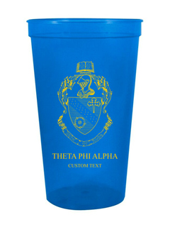 Theta Phi Alpha Custom Greek Crest Letter Stadium Cup