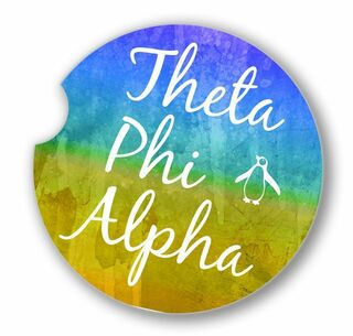 Theta Phi Alpha Sandstone Car Cup Holder Coaster