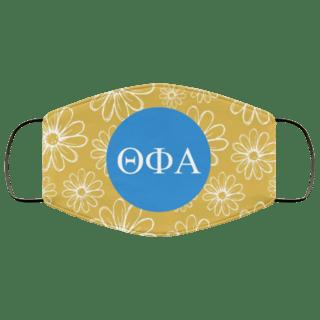 Theta Phi Alpha Daisies Face Mask