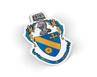 Theta Phi Alpha Die Cut Crest Sticker