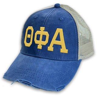 Theta Phi Alpha Distressed Trucker Hat