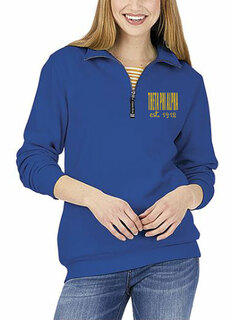 Theta Phi Alpha Established Crosswind Quarter Zip Sweatshirt