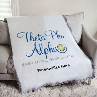 Theta Phi Alpha Ever Loyal Afghan Blanket Throw