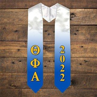 Theta Phi Alpha Extra Fancy Greek Graduation Stole W Year