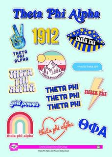 Theta Phi Alpha Girl Power Stickers