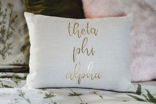 Theta Phi Alpha Gold Imprint Throw Pillow