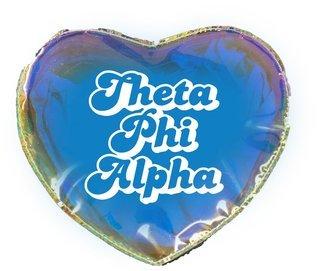 Theta Phi Alpha Heart Shaped Makeup Bag