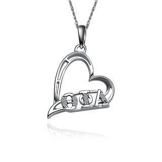 Theta Phi Alpha Heart Silver Lavalier