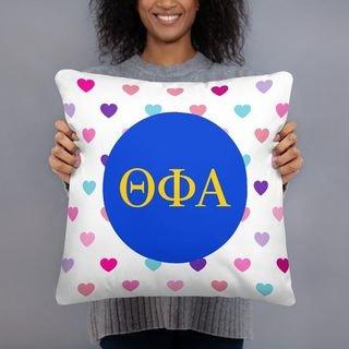 Theta Phi Alpha Hearts Pillow