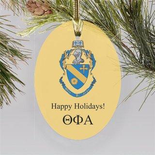 Theta Phi Alpha Holiday Color Crest - Shield Ornament