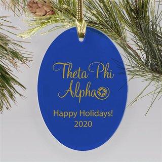 Theta Phi Alpha Holiday Color Mascot Christmas Ornament