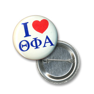 Theta Phi Alpha I Love Mini Sorority Buttons