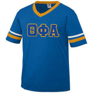 DISCOUNT-Theta Phi Alpha Jersey With Greek Applique Letters