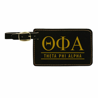 Theta Phi Alpha Leatherette Luggage Tag