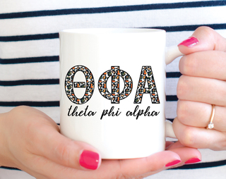 Theta Phi Alpha Leopard Mug