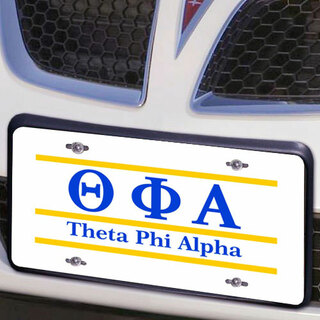 Theta Phi Alpha Lettered Lines License Cover