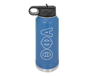 Theta Phi Alpha Letters Stainless Water Bottle
