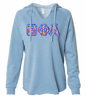Theta Phi Alpha Lightweight California Wavewash Hooded Pullover Sweatshirt