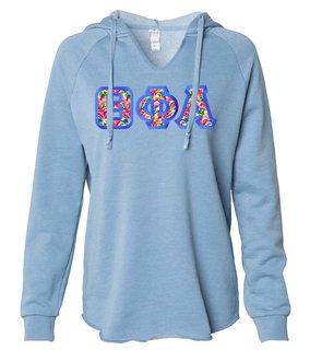 Theta Phi Alpha Lightweight California Wavewash Hooded Pullover Sweatshirt