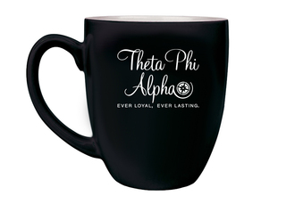 Theta Phi Alpha Logo Bistro Mug
