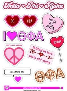 Theta Phi Alpha Love Theme Stickers