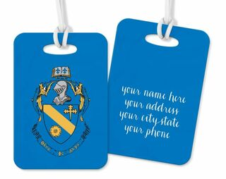 Theta Phi Alpha Crest - Shield Luggage Tag