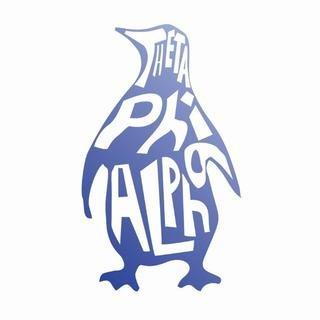 Theta Phi Alpha Mascot Greek Letter Sticker