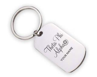 Theta Phi Alpha Mascot Stainless Keychain