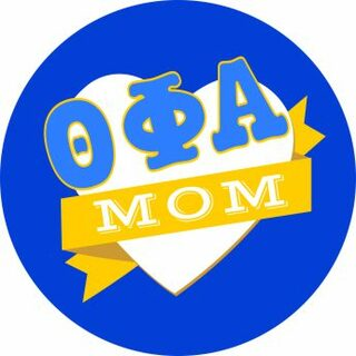 Theta Phi Alpha Mom Round Decals