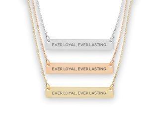 Theta Phi Alpha Motto Bar Necklace