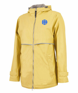 Theta Phi Alpha New Englander Circle Monogram Rain Coat