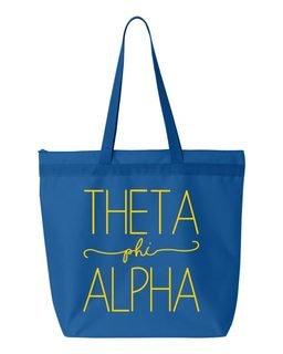 Theta Phi Alpha New Handwriting Tote Bag