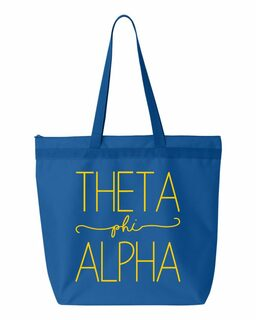 Theta Phi Alpha New Handwriting Tote Bag