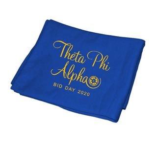 Theta Phi Alpha Mascot Sweatshirt Blanket