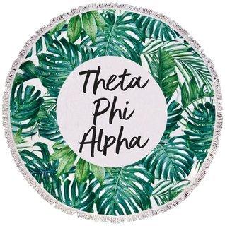 Theta Phi Alpha Palm Leaf Fringe Towel Blanket