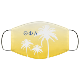 Theta Phi Alpha Palm Trees Face Mask