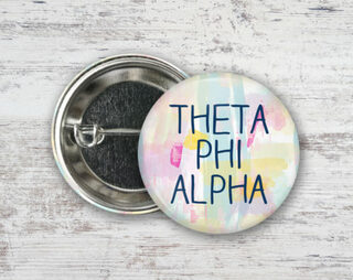 Theta Phi Alpha Pastel Strokes Button