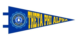 Theta Phi Alpha Pennant Decal Sticker