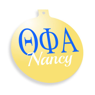 Theta Phi Alpha Personalized Christmas Ornaments