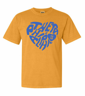 Theta Phi Alpha Piece of My Heart Sorority Comfort Colors T-Shirt