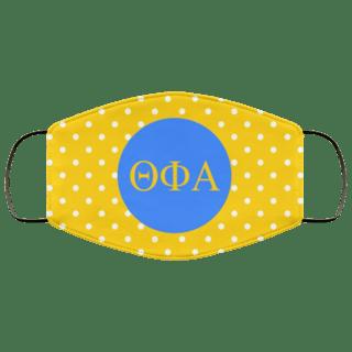 Theta Phi Alpha Polka Dots Face Mask