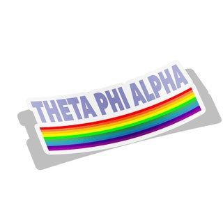 Theta Phi Alpha Prism Decal Sticker