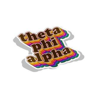 Theta Phi Alpha Retro Maya Decal Sticker
