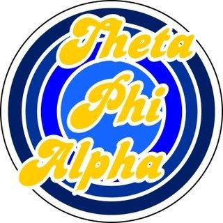 Theta Phi Alpha Retro Round Decals